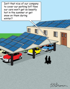 Now my business has Solar can I operate my fleet for free?